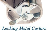 locking metal castors